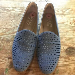 Franco Sarto Blue Faux Leather Flats Loafers 7